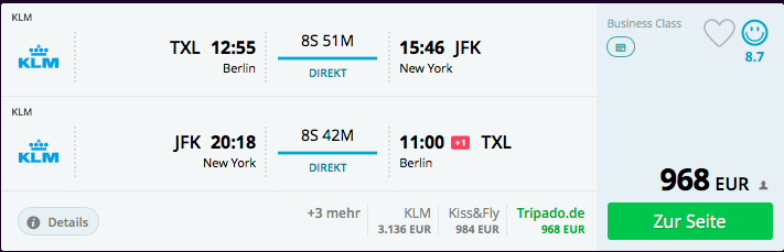 Skyteam Business Class Nach New York Für Ab 998 Euro Frankfurtflyerde