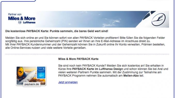 Payback Karte Vorteile.Mit Payback Miles More Meilen Sammeln Frankfurtflyer De