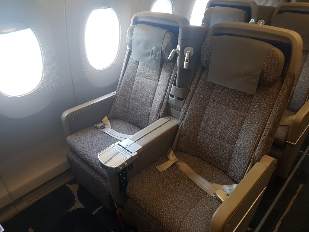 China Airlines Economy Class im Airbus A350