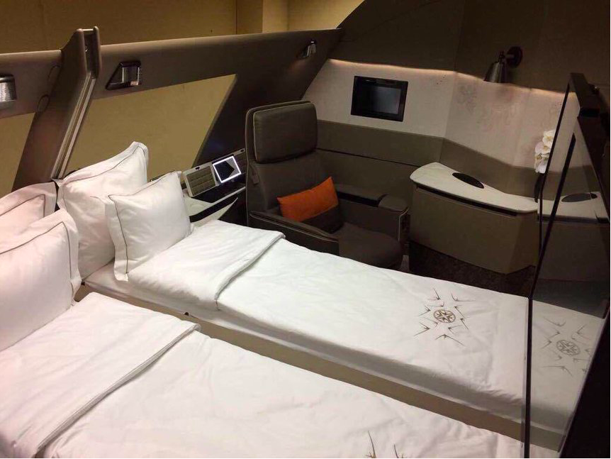 Mehr details zur neuen singapore airlines first class for First class suite airline