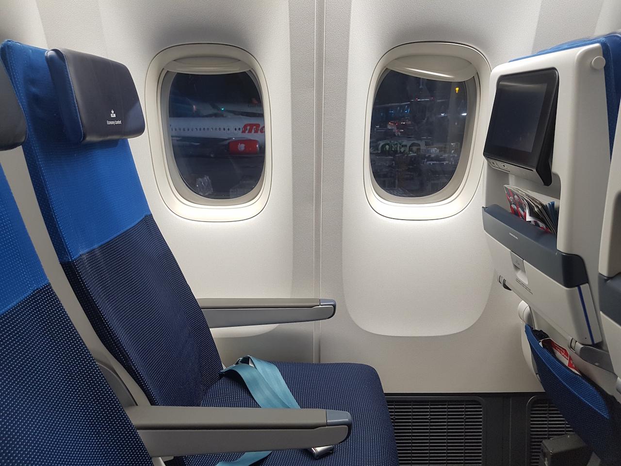 KLM Economy Class in der Boeing 777-300ER