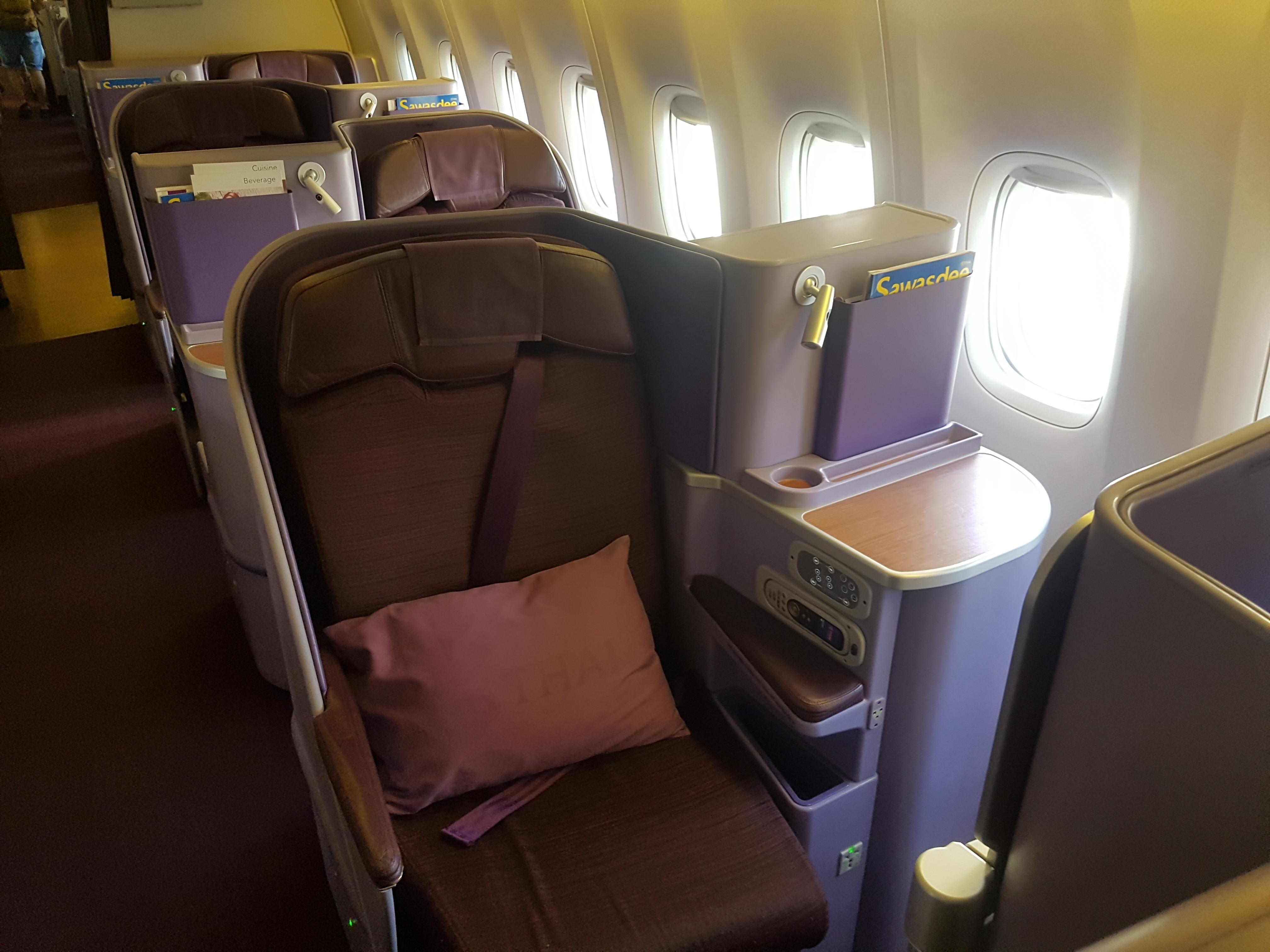 Review Thai Airways Business Class In Der Boeing 777