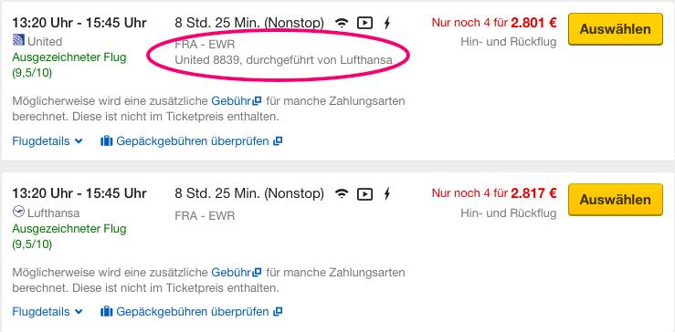 Flugnummer Frankfurt
