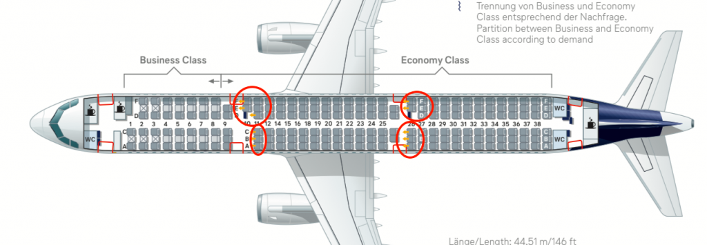 A320 beste sitzplätze air berlin Airbus A320