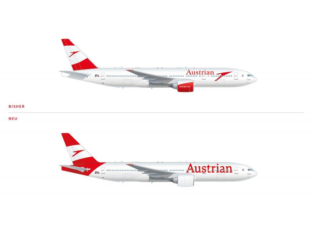 austrian airlines bekommt eine neue lackierung. Black Bedroom Furniture Sets. Home Design Ideas