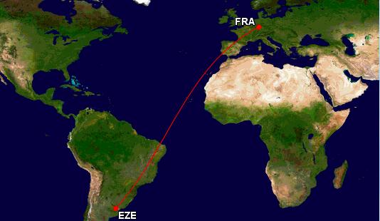 Flugrouten Karte Weltweit Lufthansa.Die 5 Langsten Lufthansa Fluge Frankfurtflyer De