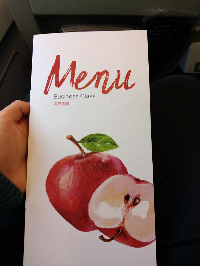 Menü-Karte, Deckblatt | China Airlines Business Class Airbus A330