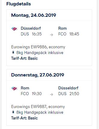 Lufthansa Holidays 30 Euro Rabatt | Buchungsübersicht - Flugdetails