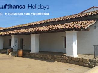 Lufthansa Holidays | 30 Euro Rabatt zum Valentinstag