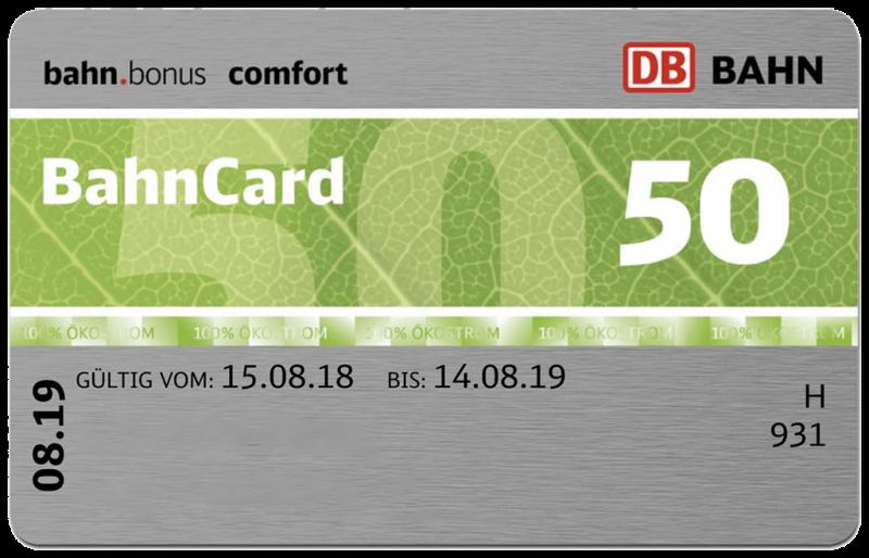 bahnkarte 50 kosten