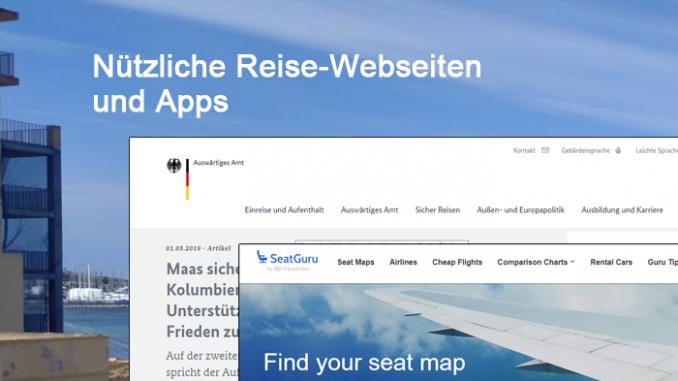 Nützliche Reise-Webseiten und Apps