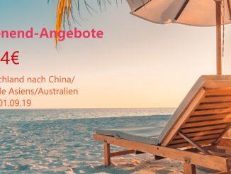 Air China Wochenende Angebote