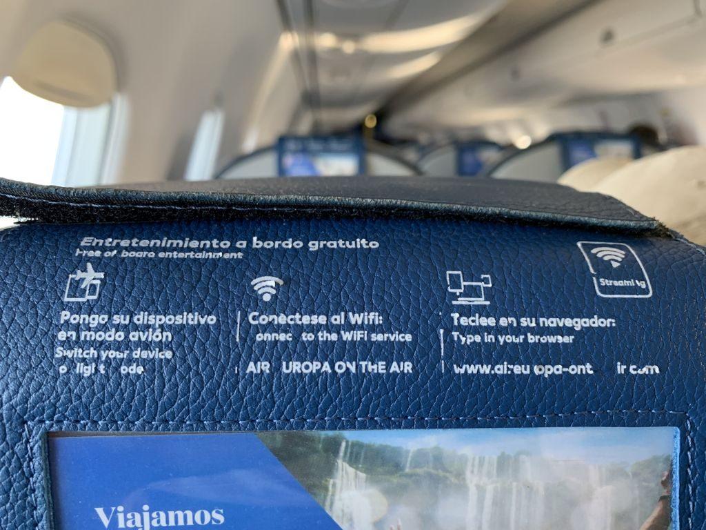 Wifi on Board Air Europa
