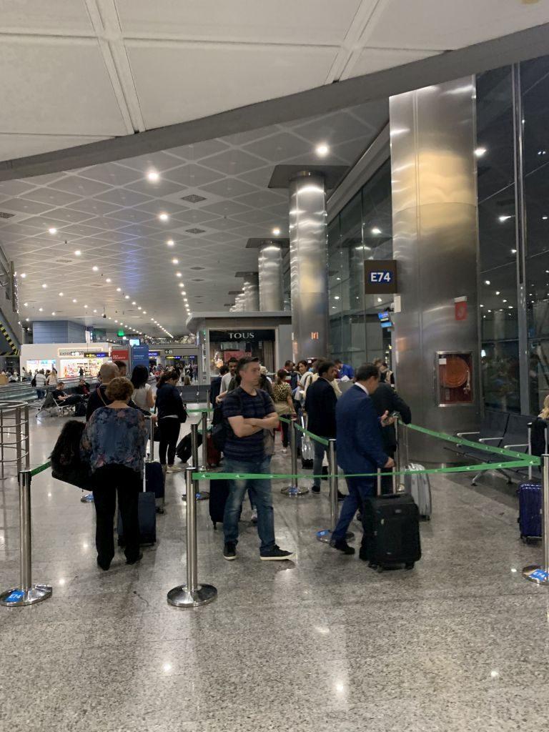 Boarding Air Europa nach Düsseldorf