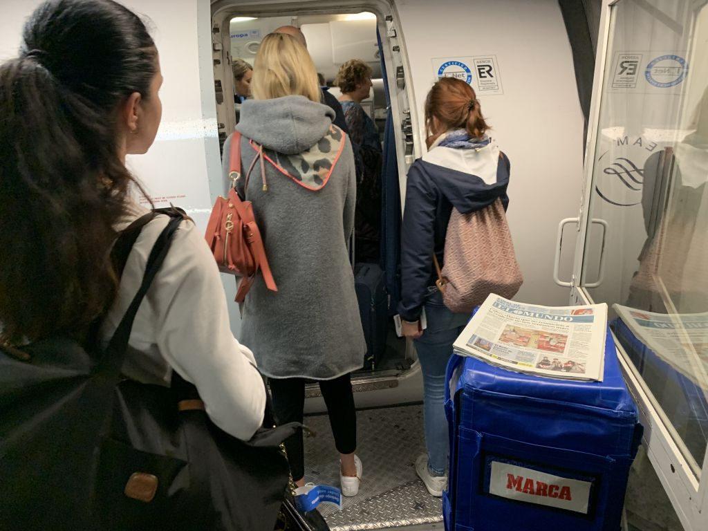 Kostenlose Zeitungen an Board Air Europa