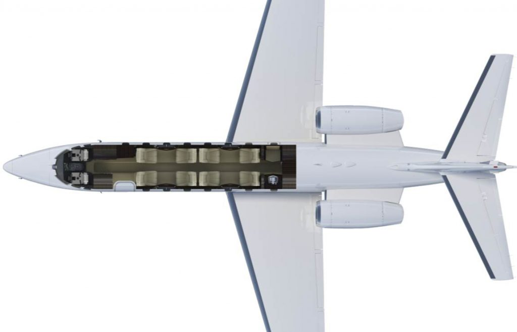 Cessna Citation Sovereign Seatmap