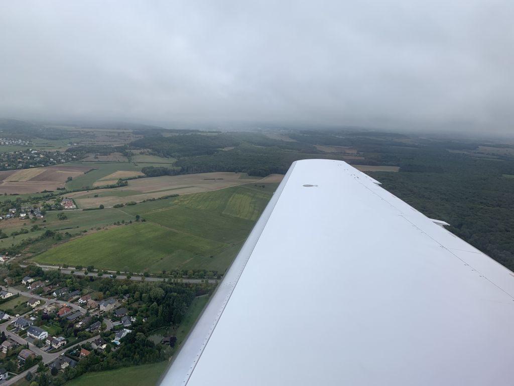 Landeanflug Luxemburg