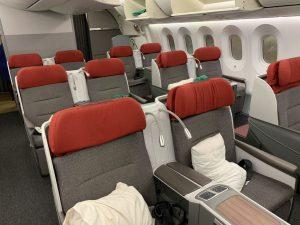 Business Class Sitze im LATAM Dreamliner