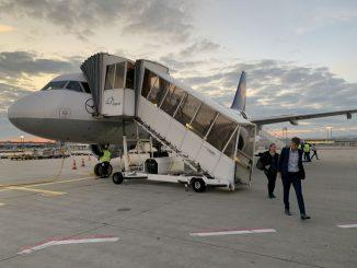 Disembarking Lufthansa