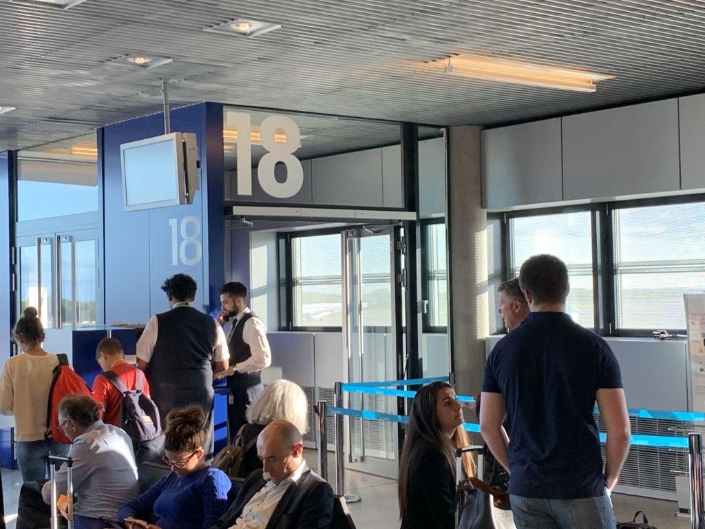 Lufthansa Boarding Luxemburg