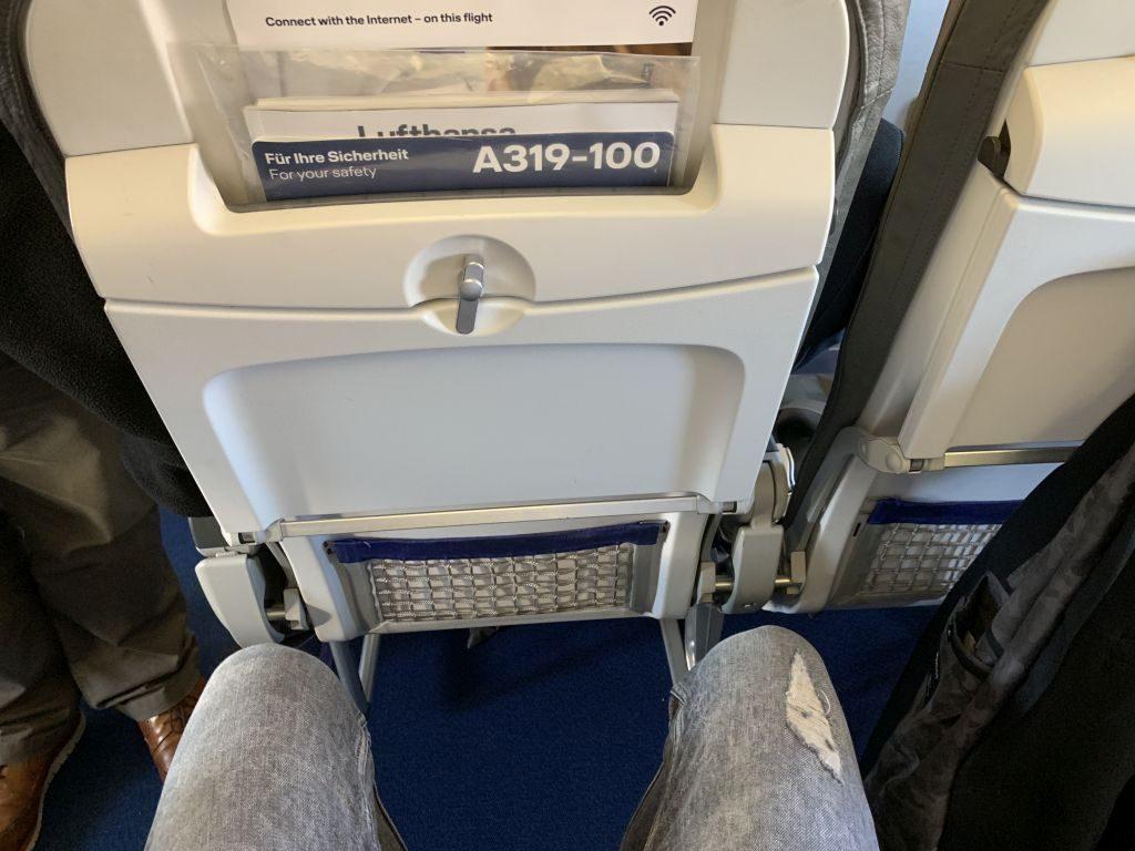 Beinfreiheit Lufthansa Airbus A319.