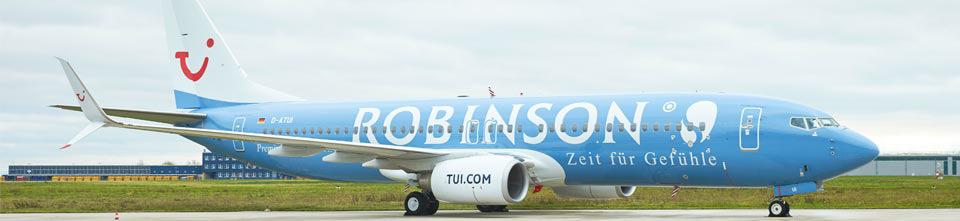 TUIfly Sonderlackierung Robinso