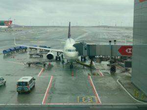 SV265 | IST, Blick auf das Flugzeug nach der Reise