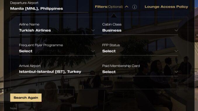 Manila - Istanbul, Business Class | Star Alliance Lounge Finder