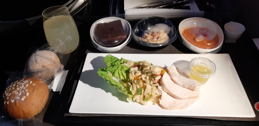 Turkish Airlines Business Class A350 | Lunch